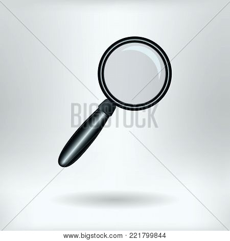 Symbol of Magnifier  - Magnifying Glass  Research Icon Concept -  Vector Illustration