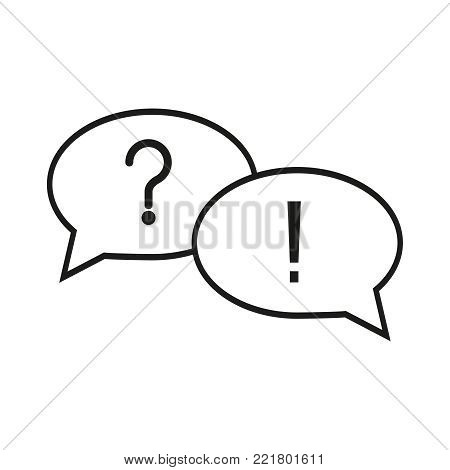 Question answer icons on the white background