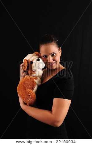 Young Woman With Teddy