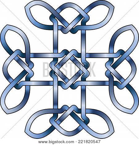 Celtic Cross - Vector Ancient Pagan Scandinavian Sacred Knotwork X Symbol