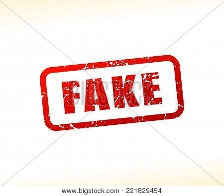 Illustration of fake text stamp concept design