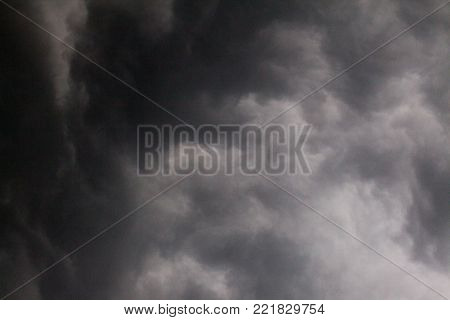 abstract of dark cloud before storm at evening