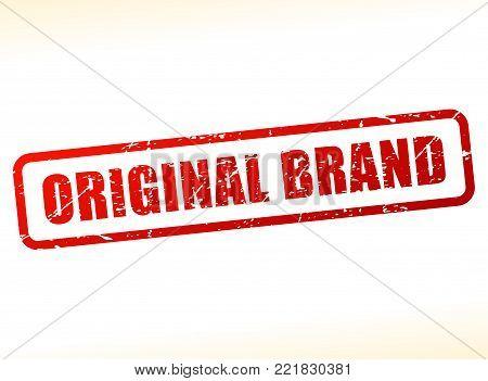 Illustration of original brand text stamp concept