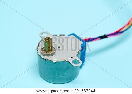 Stepper motor with gearbox