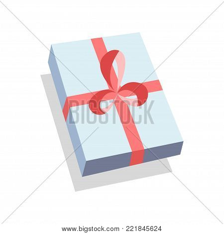 Gift Box for bithday party, Valentines day, Mother day, Christmas. Drawing for website, invitations, promotion banners. Holiday concept. Birthday concept