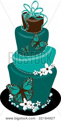 Topsy Turvy Butterfly Wedding Cake