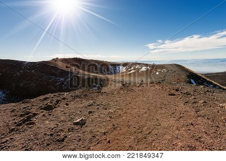 Silvestri craters (eruption of the year 1892), mount Etna Volcano in Sicily island, Catania, Italy (Sicilia, Italia)