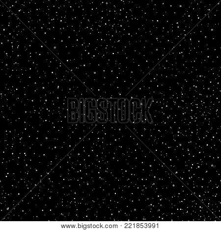 Starry sky hand draw seamless pattern, doodle elements in galaxy and stars style - endless background. Galaxy background of starry night sky, space repeat seamless on deep blue color