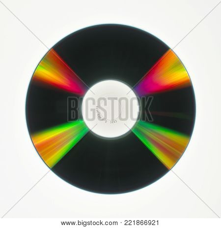 REFRACTED LIGHT ON SURFACE OF COMPACT DISC