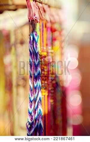 Colorful vivid handmade raided bracelets on the market