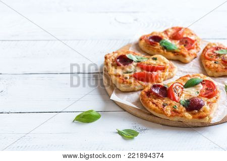 Heart Shaped Mini Pizzas