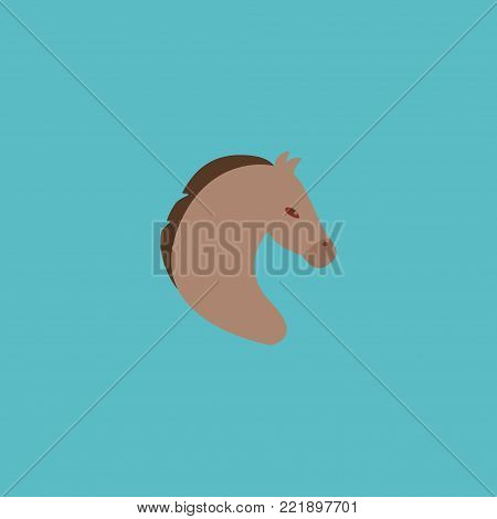 Mustang icon flat element.  illustration of mustang icon flat isolated on clean background for your web mobile app logo design.