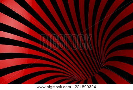 Geometric Abstract Hypnotic Worm-Hole Tunnel - Optical Illusion - Vector Illusion Op Art