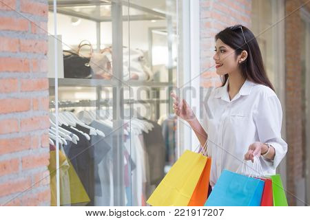 Business, Lifestyle And Shopping Concept.