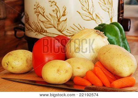 Crockpot And Vegetables