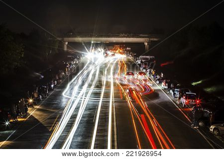 6 june 2015 street racing at nigth, photo on long withstand , Chisinau, Moldova
