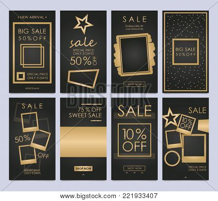 Set mobile sale banners. Stories Templates is a powerful social media tool that will increase your engagement, and grow your business. Insert your photos and changing the existing text.