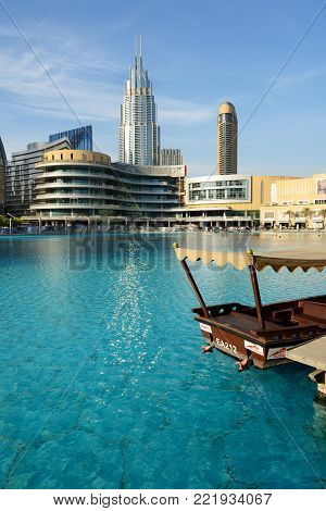 DUBAI, UAE - NOVEMBER 19: The Dubai Mall is the world's largest shopping mall.  It is located in Burj Khalifa complex and has 1200 shops inside on November 19, 2017