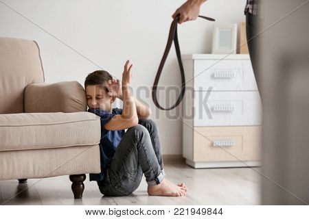 Woman threatening her son at home