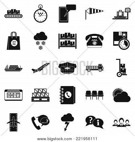 Superintendent icons set. Simple set of 25 superintendent vector icons for web isolated on white background