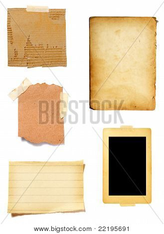 braun old Paper Hinweis background