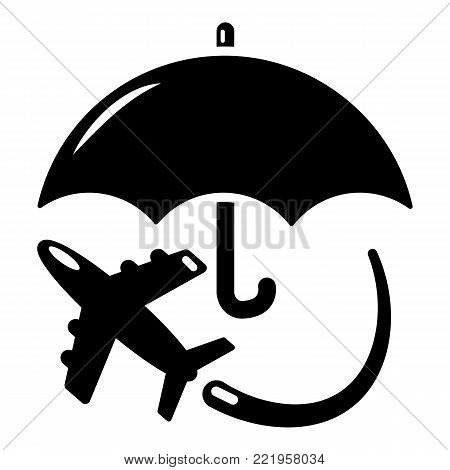 Insurance fly icon. Simple illustration of insurance fly vector icon for web