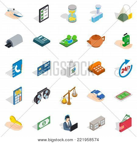Medical staff icons set. Isometric set of 25 medical staff vector icons for web isolated on white background