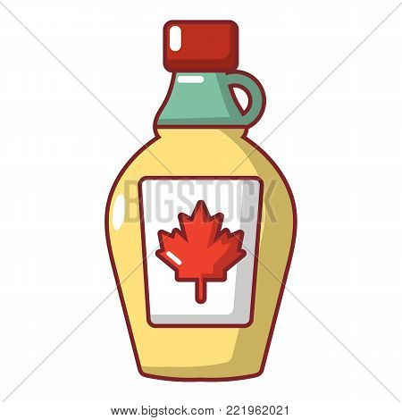 Maple syrup icon. Cartoon illustration of maple syrup vector icon for web