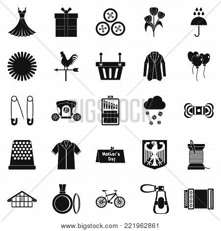 Dress code icons set. Simple set of 25 dress code vector icons for web isolated on white background