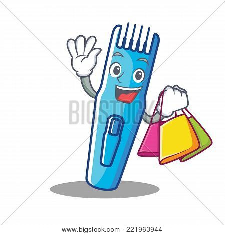 Shopping trimmer character cartoon style vector illustration