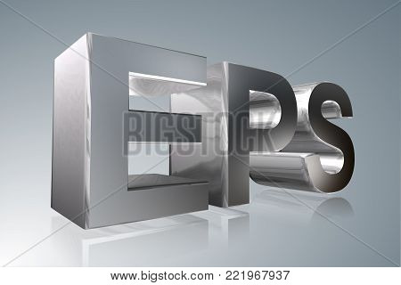 Accounting term - EPS - Earnings Per Share - 3D image