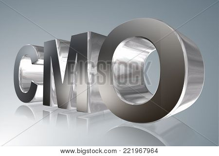 Accounting term - CMO - Collateralized Mortgage Obligation  - 3D image