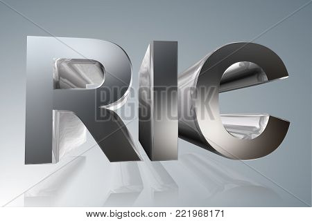 Accounting term - RIC- Regulated Investment Company - 3D image