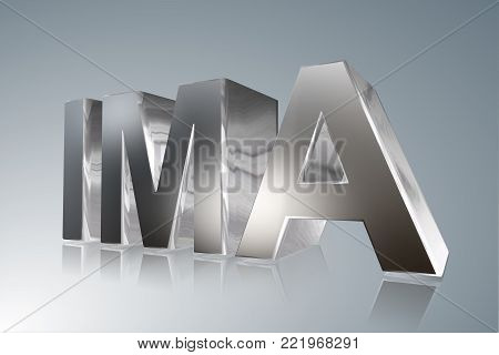 Accounting term - IMA -  Institute of Management Accountants- 3D image