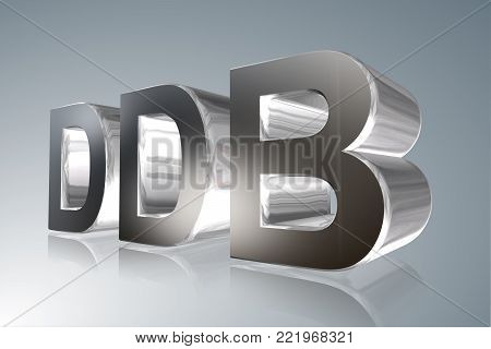 Accounting term - DDB - - Double Declining Balance Depreciation - 3D image