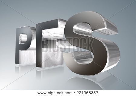 Accounting term - PFS- Personal Financial Specialist - 3D image