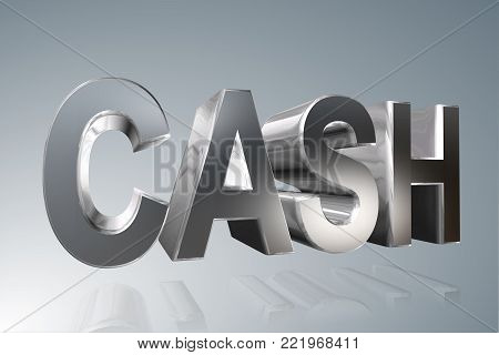 Accounting term - Cash -  3D image