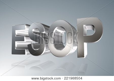 Accounting term - ESOP - Employee Stock Ownership Plan-  3D image