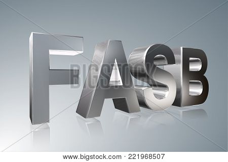 Accounting term - FASB -  Financial Accounting Standards Board -  3D image