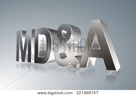 Accounting term - MD&A - Management Discussion and Analysis -   3D image