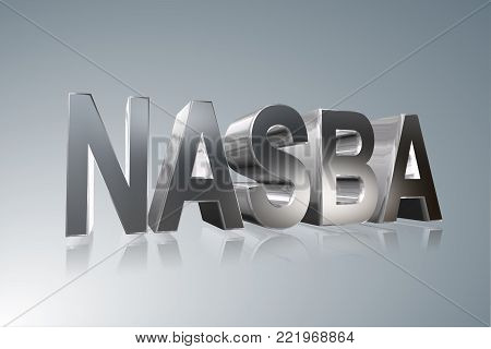 Accounting term - NASBA - National Association of State Boards of Accountancy -    3D image