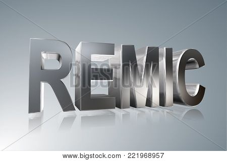 Accounting term - REMIC -  Real Estate Mortgage Investment Conduit -    3D image