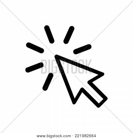Click icon isolated on white background. Click icon modern symbol for graphic and web design. Click icon simple sign for logo, web, app, UI. Click icon flat vector illustration, EPS10.