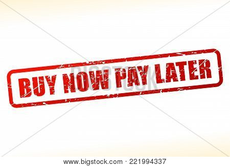 Illustration of buy now pay later text buffered