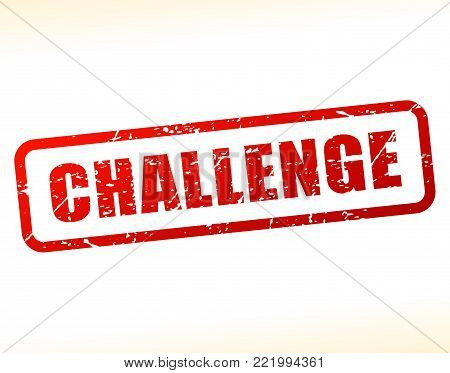 Illustration of challenge text buffered on white background