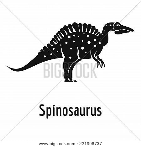 Spinosaurus icon. Simple illustration of spinosaurus vector icon for web.