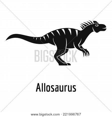 Allosaurus icon. Simple illustration of allosaurus vector icon for web.