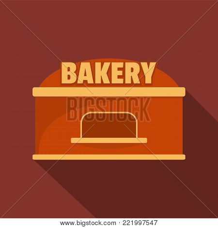 Bakery trade icon. Flat illustration of bakery trade vector icon for web.