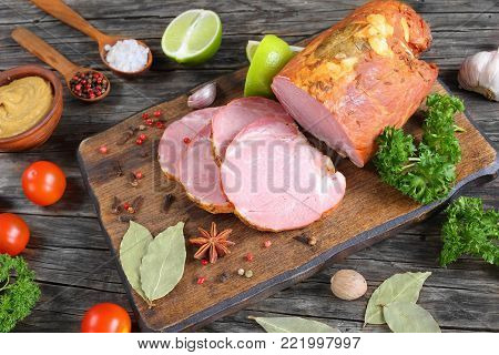 Savory Smoked Ham Cut In Slices