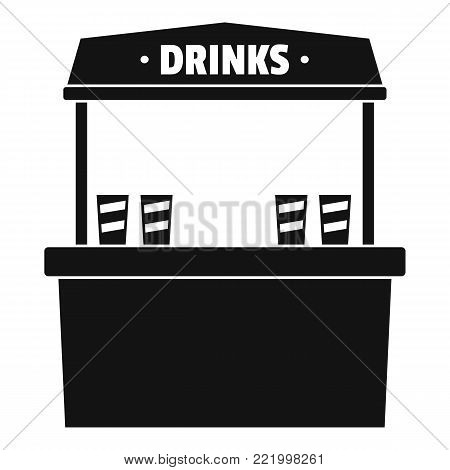 Drinks selling icon. Simple illustration of drinks selling vector icon for web.